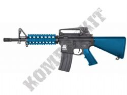 SR4PH Sportline M4 RIS Electric AEG Airsoft Rifle BB Machine Gun 2 Tone Blue Black